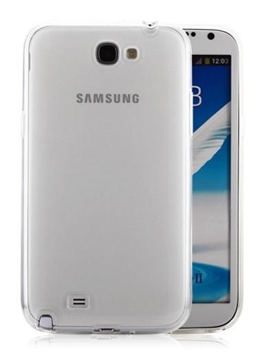 Microsonic Galaxy Note 2 Clear Soft Şeffaf Kılıf Renkli